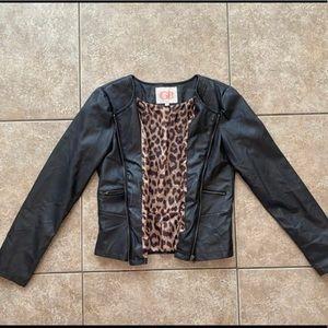 GB Black Leather Jacket